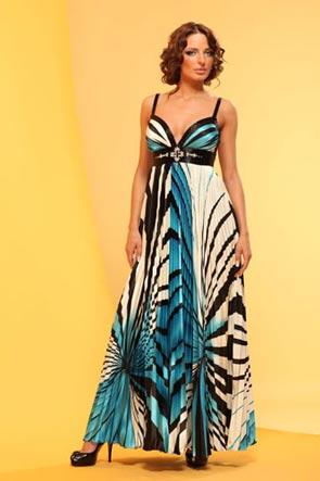 Вечерние разноцветные и градиент платья коллекции вечерних платьев 2012.