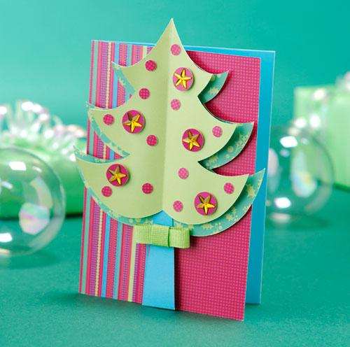 Поделки и открытки на новый год своими руками фото
