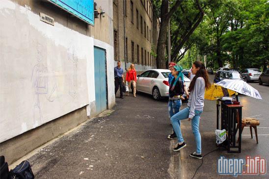 Днепропетровский химико-технологический университет разукрашивают граффити (ФОТО), фото-1