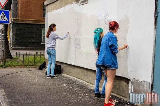 Днепропетровский химико-технологический университет разукрашивают граффити (ФОТО), фото-2