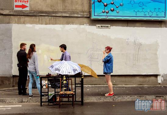 Днепропетровский химико-технологический университет разукрашивают граффити (ФОТО), фото-3