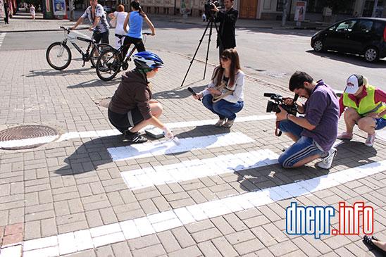 Велосипедисты Днепропетровска взялись сами делать велосипедные дорожки (ФОТО), фото-1