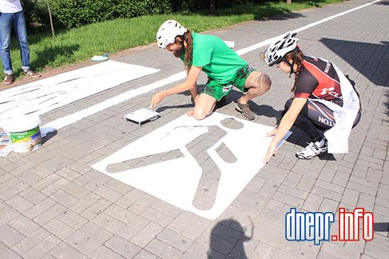 Велосипедисты Днепропетровска взялись сами делать велосипедные дорожки (ФОТО), фото-5