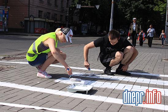 Велосипедисты Днепропетровска взялись сами делать велосипедные дорожки (ФОТО), фото-6