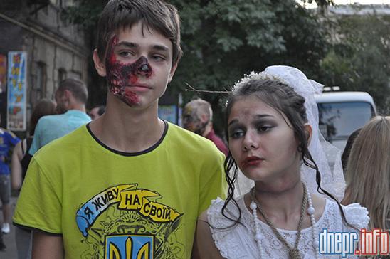 Флешмоб в Днепропетровске: как прошел зомби-парад (ФОТОРЕПОРТАЖ), фото-16