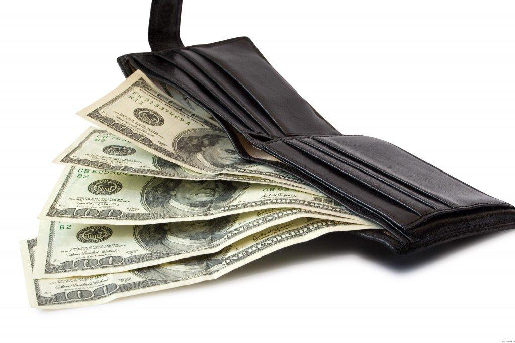 кошелек доллары