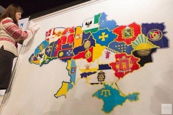 вышитая карта украины