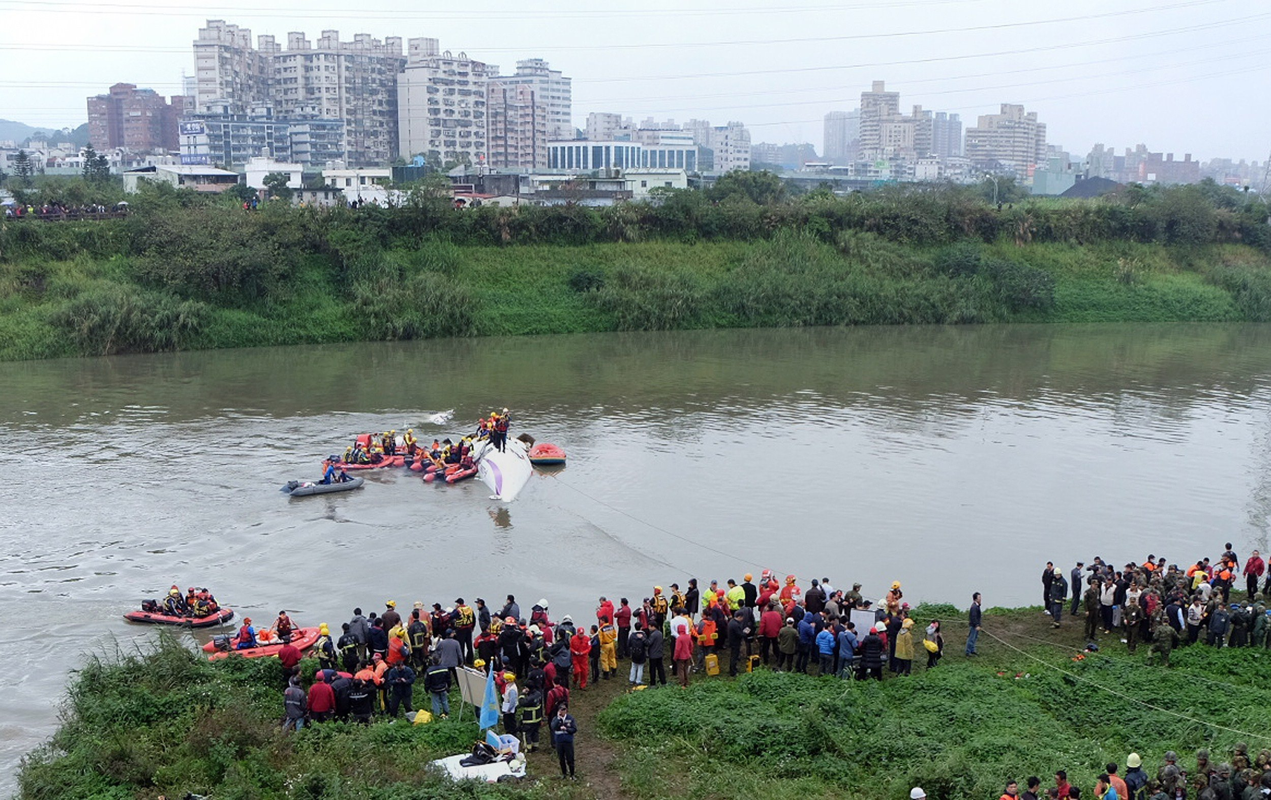 крушение самолета в Тайвани