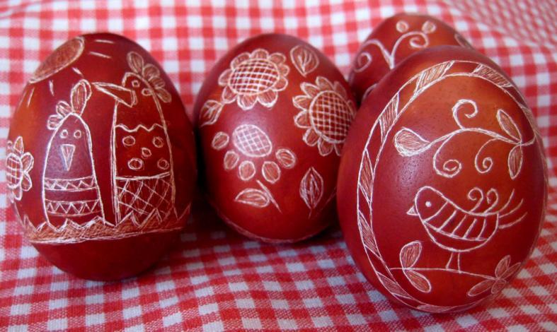 Узор на яйцо к пасхе своими руками