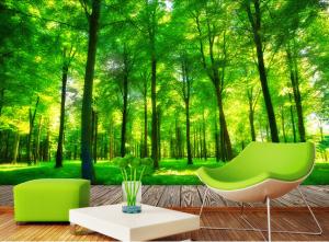 Custom-3d-photo-wallpaper-3D-stereoscopic-font-b-green-b-font-font-b-forest-b-font