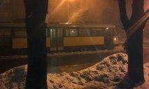 В Днепре загорелся трамвай с пассажирами