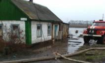 В Днепропетровской области талыми водами затопило село