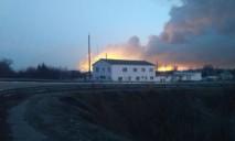 На Харьковщине горит огромный склад с боеприпасами