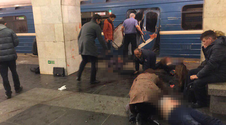 Взрыв вметро вСанкт— Петербурге