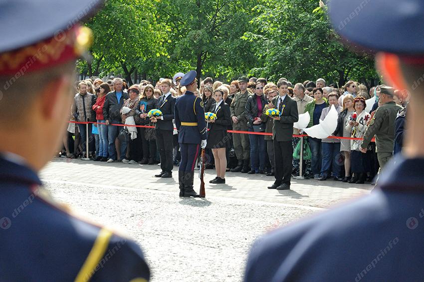 ВДнепре открылась Аллея памяти погибших бойцов АТО