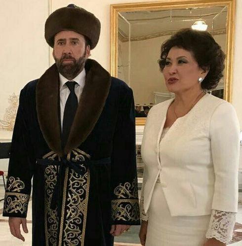 Визит Николаса Кейджа вКазахстан превратился в известный мем вweb-сети интернет