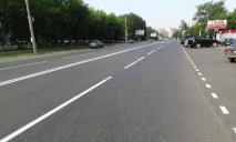 В Днепре разметка на дорогах начала становится невидимой