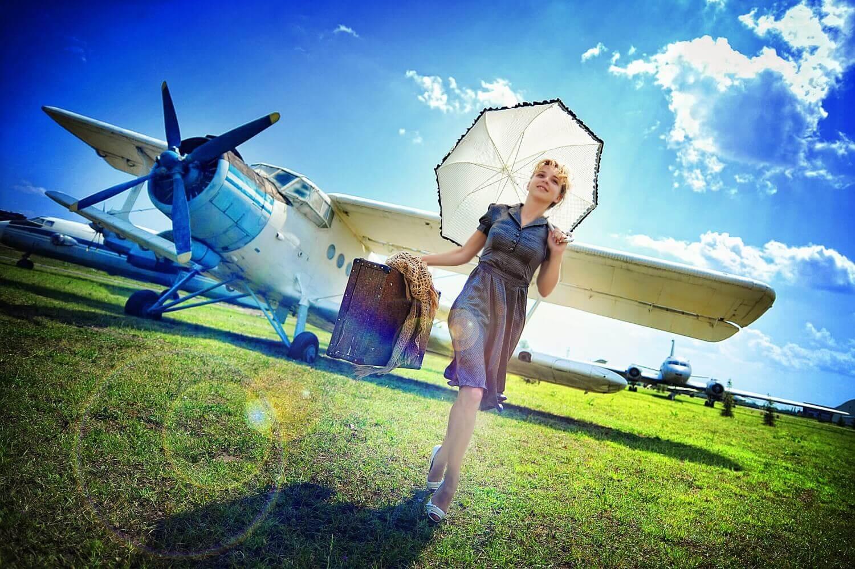 Смотреть фото девушки и самолеты