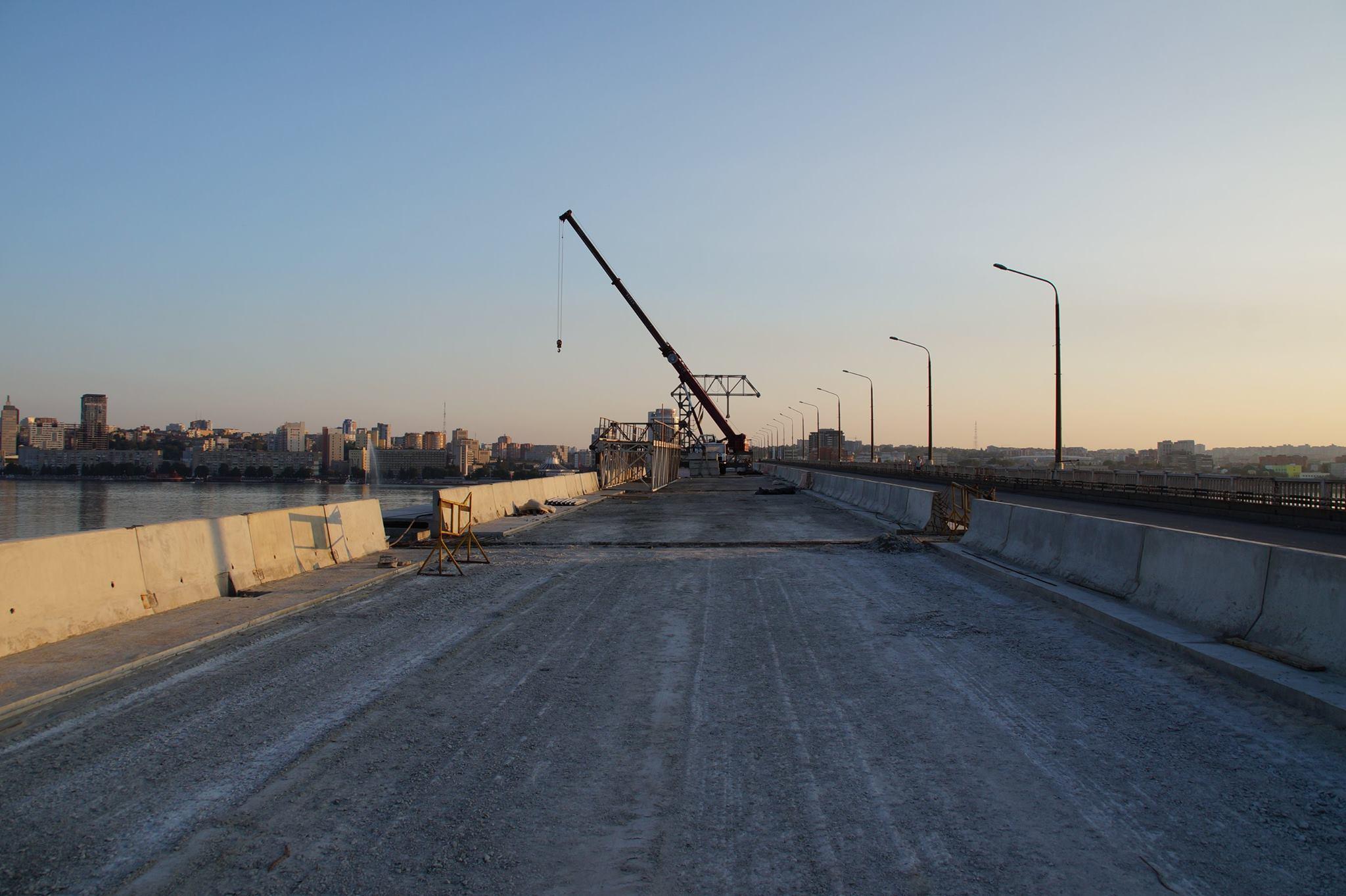 Картинки по запросу ремонт моста в днепре