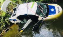 Утонул автомобиль полиции
