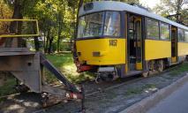 ЧП: с рельсов сошел трамвай