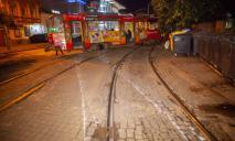 Дрифт по-днепровски: в центре Днепра «дрифтовал» трамвай