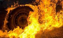 Микроавтобус загорелся на ходу