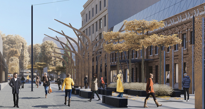 Новые деревья, фонтаны и пешеходная зона: Как будет выглядеть улица Короленко в Днепре после реконструкции. Новости Днепра