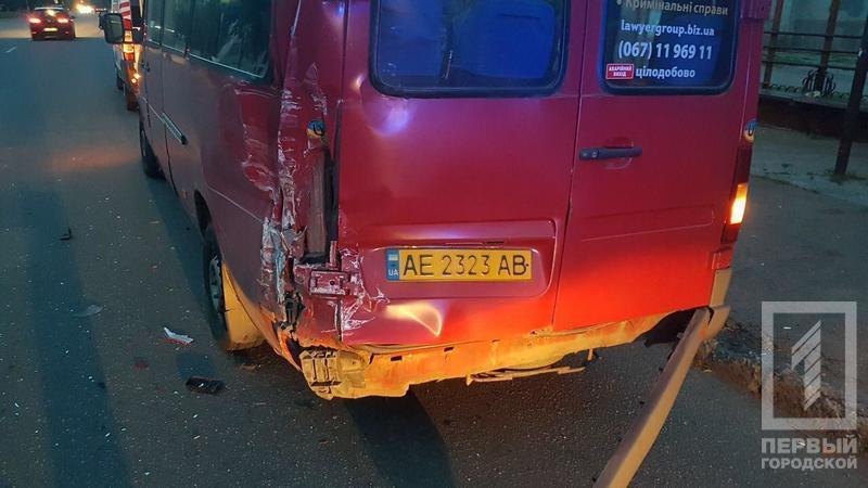 Столкновение маршруток: из-за пьяного водителя пострадали трое. Новости Днепра