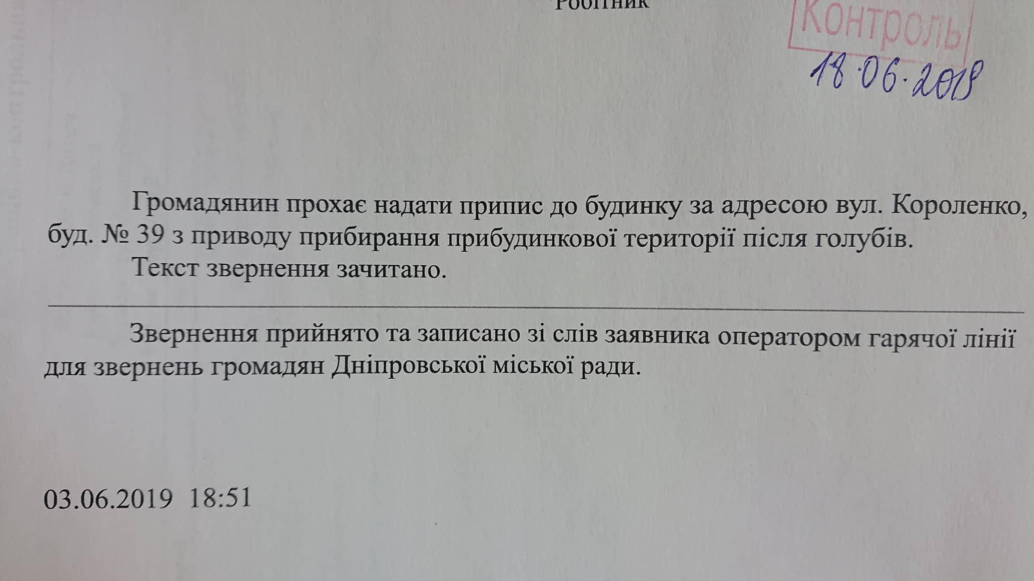 «Ничего нового»: как заммэра Лысенко «заставляют» решать проблемы голубиного помета. Новости Днепра