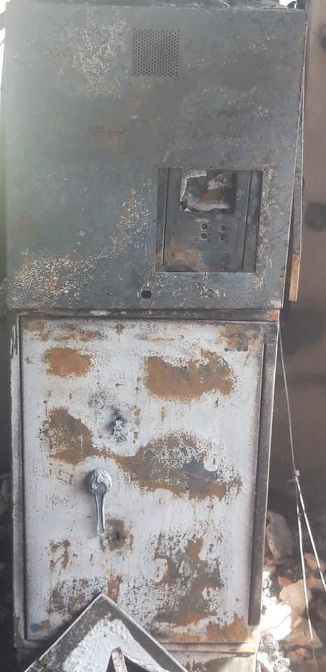 Под Днепром в селе сожгли единственный банкомат. Новости Днепра