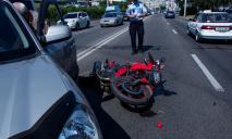 В Днепре в ДТП пострадал мотоциклист