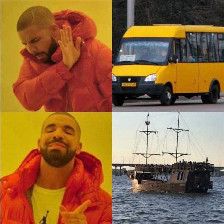 Как днепряне шутят про бесплатное речное такси. Афиша Днепра