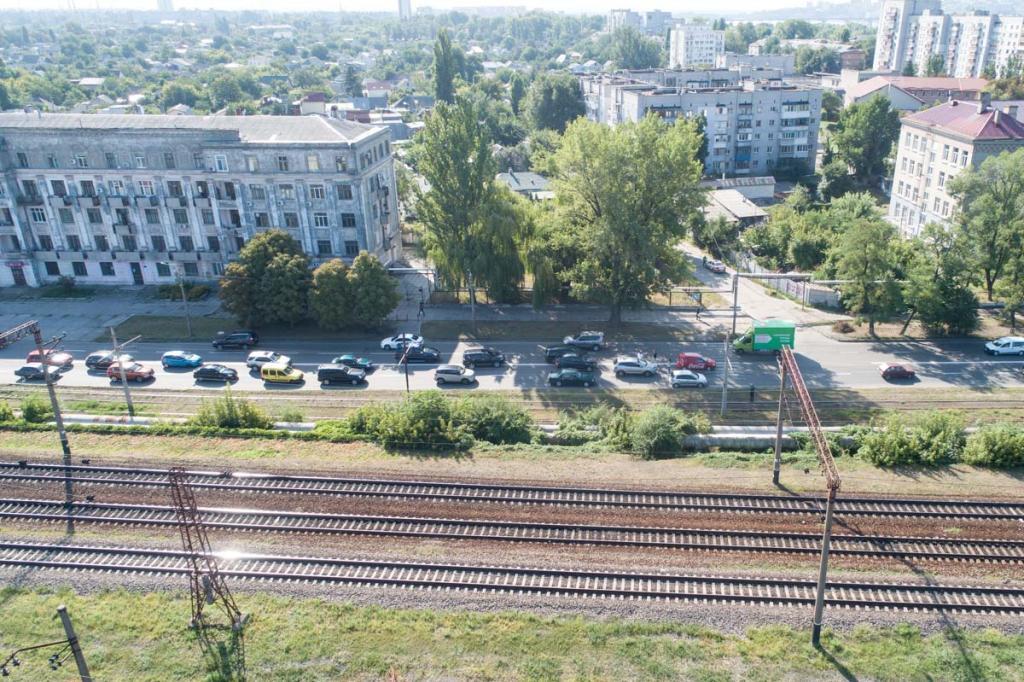 На левом берегу Днепра в сторону Амурского моста образовалась пробка. Новости Днепра