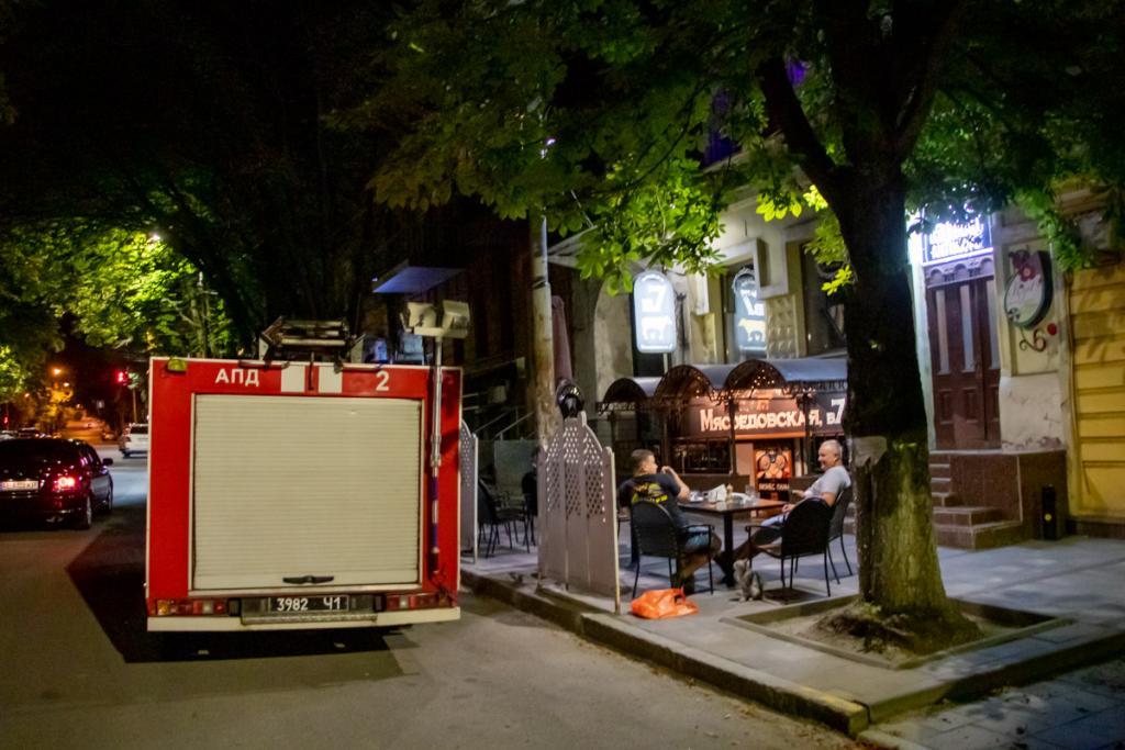Пожар: в центре Днепра загорелось кафе . Новости Днепра