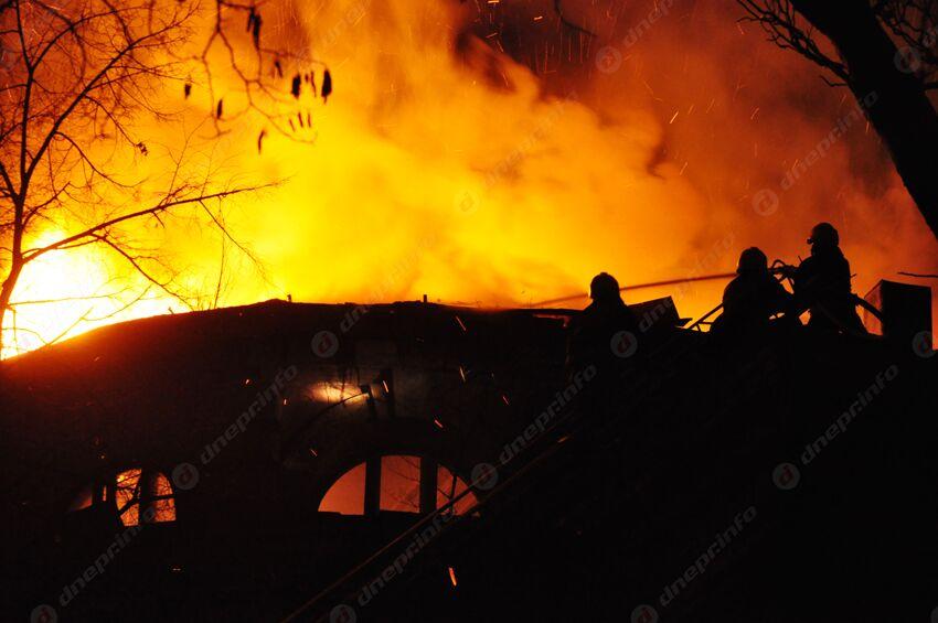 Пожар в Днепре: есть пострадавший. Новости Днепра