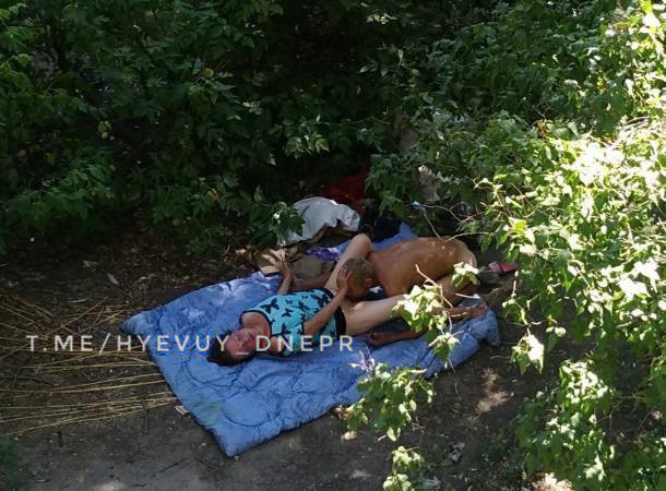 Виды из днепровских окон: горожан смутил слишком откровенный секс бездомных. Новости Днепра