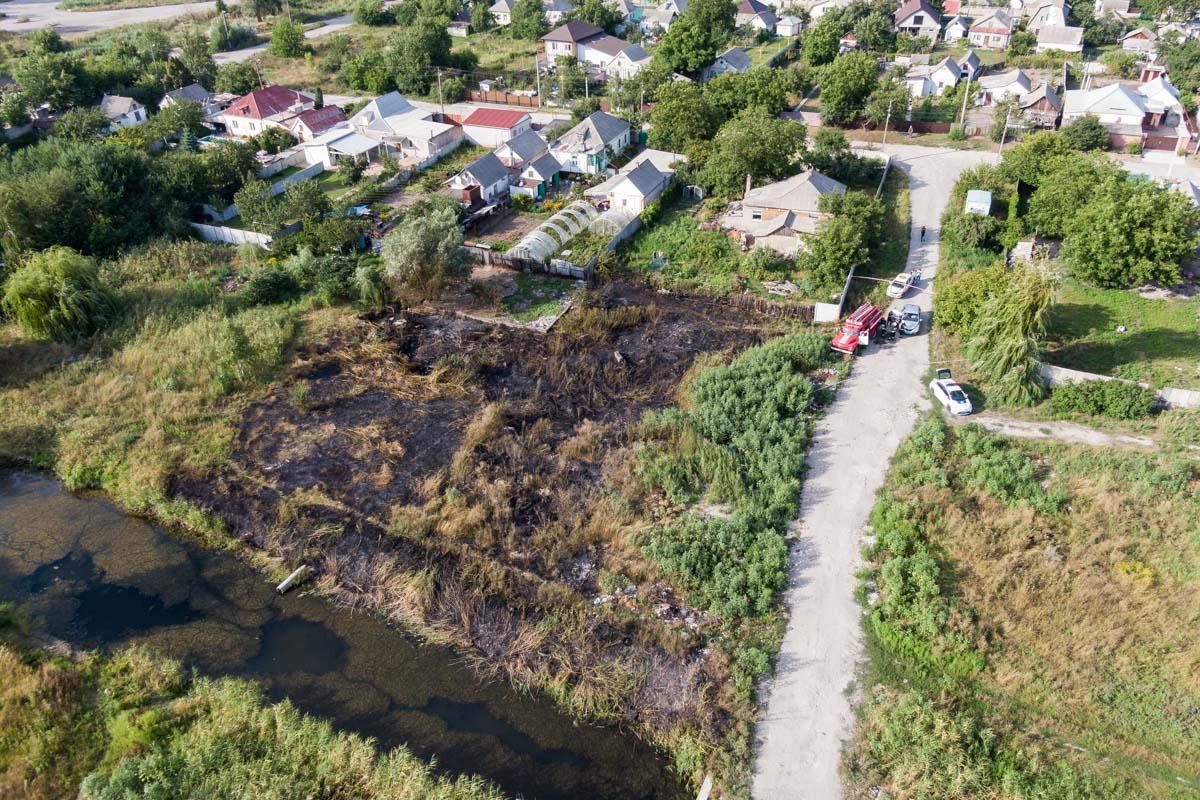 В Днепре в сгоревшей траве были найдены свежие останки человека. Новости Днепра