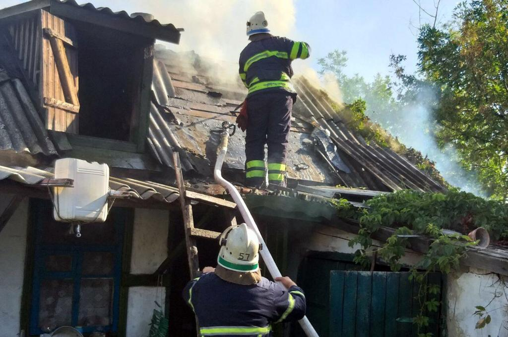 Пожар уничтожил здание. Новости Днепра