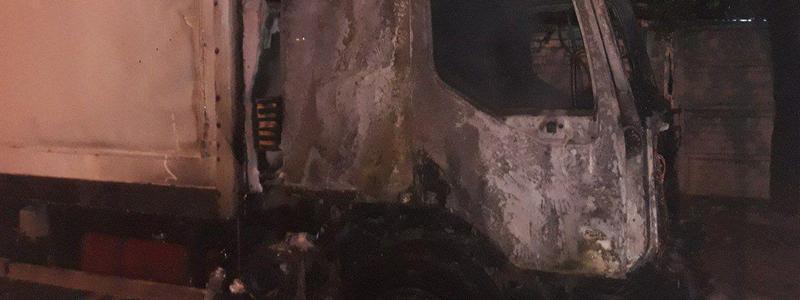 Подожгли грузовик. Новости Днепра