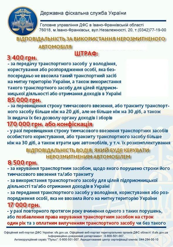 Владельцы «евроблях», готовьтесь: грядут большие штрафы. Новости Украины