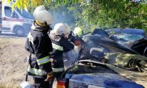 Масштабное ДТП под Днепром: авто слетело с трассы, людей вырезали спасатели