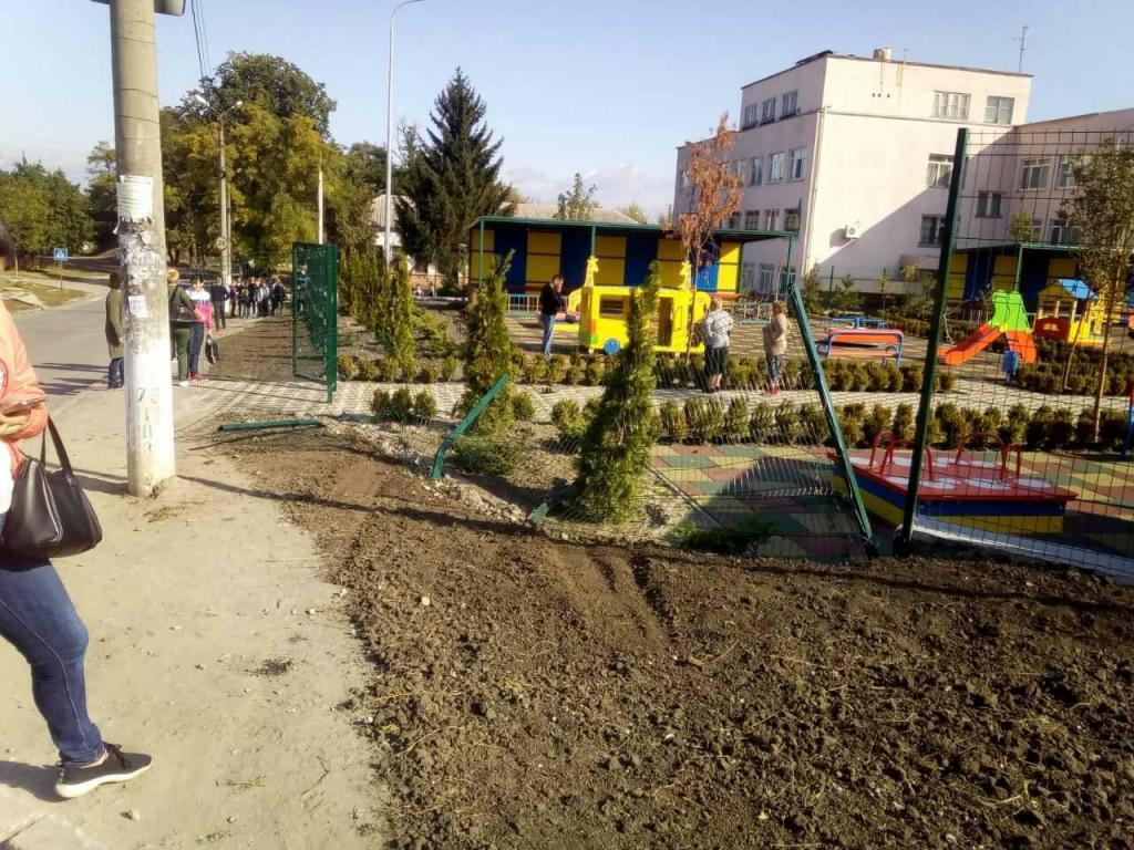 Автомобиль вреался в садик. Новости Днепра