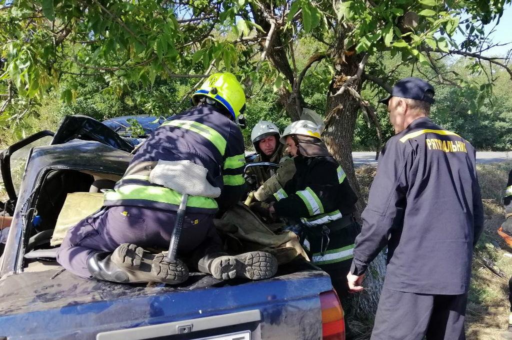 Под Днепром авто влетело в дерево: людей зажало. Новости Днепра