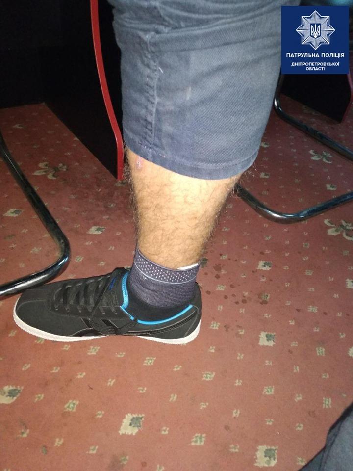 «Необычная находка»: что патрульные обнаружили в носке мужчины. Новости Днепра