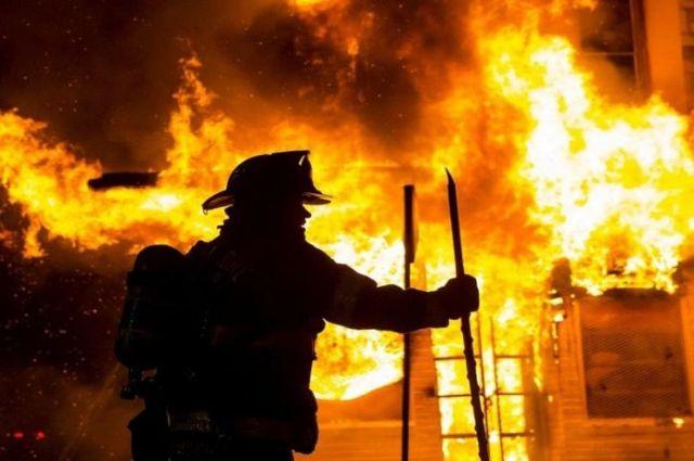 Сгорел гараж. Новости Днепра
