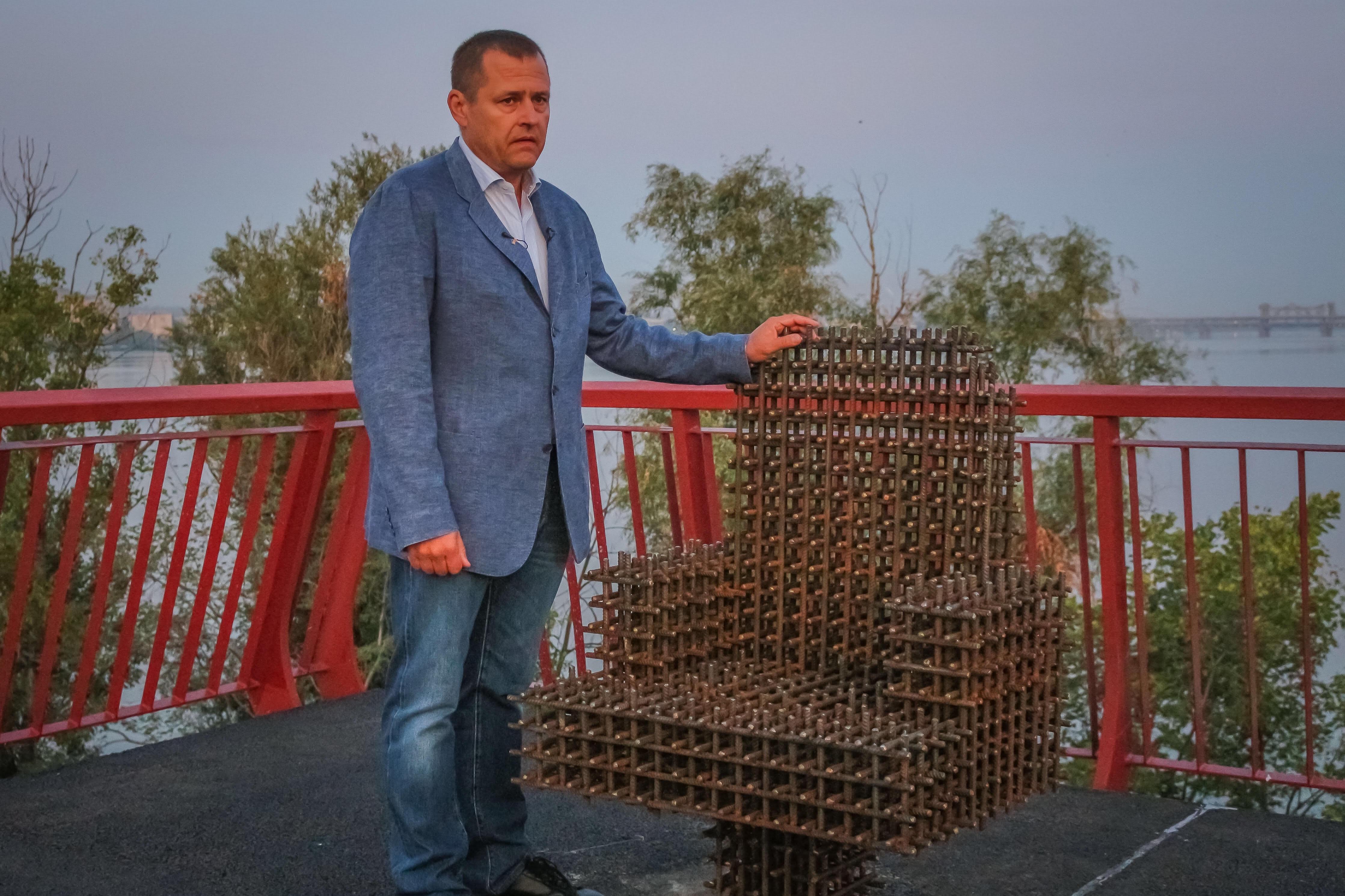 Филатов открыл Новый мост после ремонта. Новости Днепра