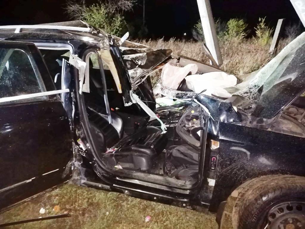Автомобиль влетел в столб. Новости Днепра