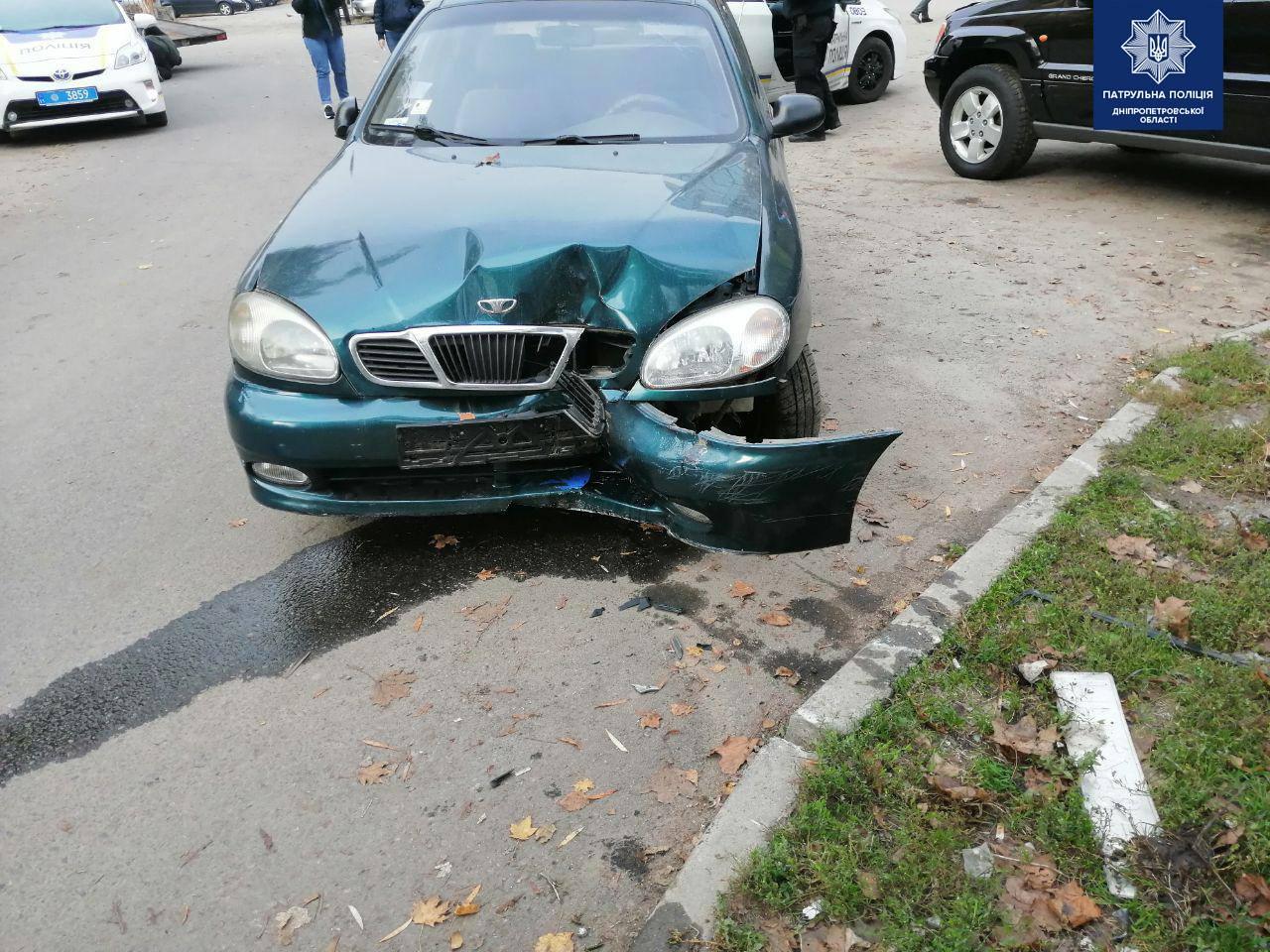 ДТП: после столкновения водитель пытался сбежать. Новости Днепра