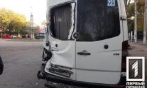 Столкнулись микроавтобус и маршрутка: четверо пострадавших